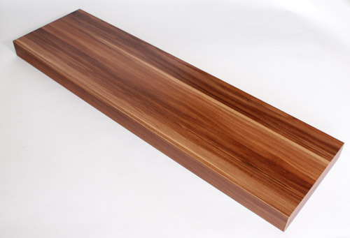 Shop/Floating Shelves/Wood effect finish. Floating Shelf Walnut 900x250x50mm