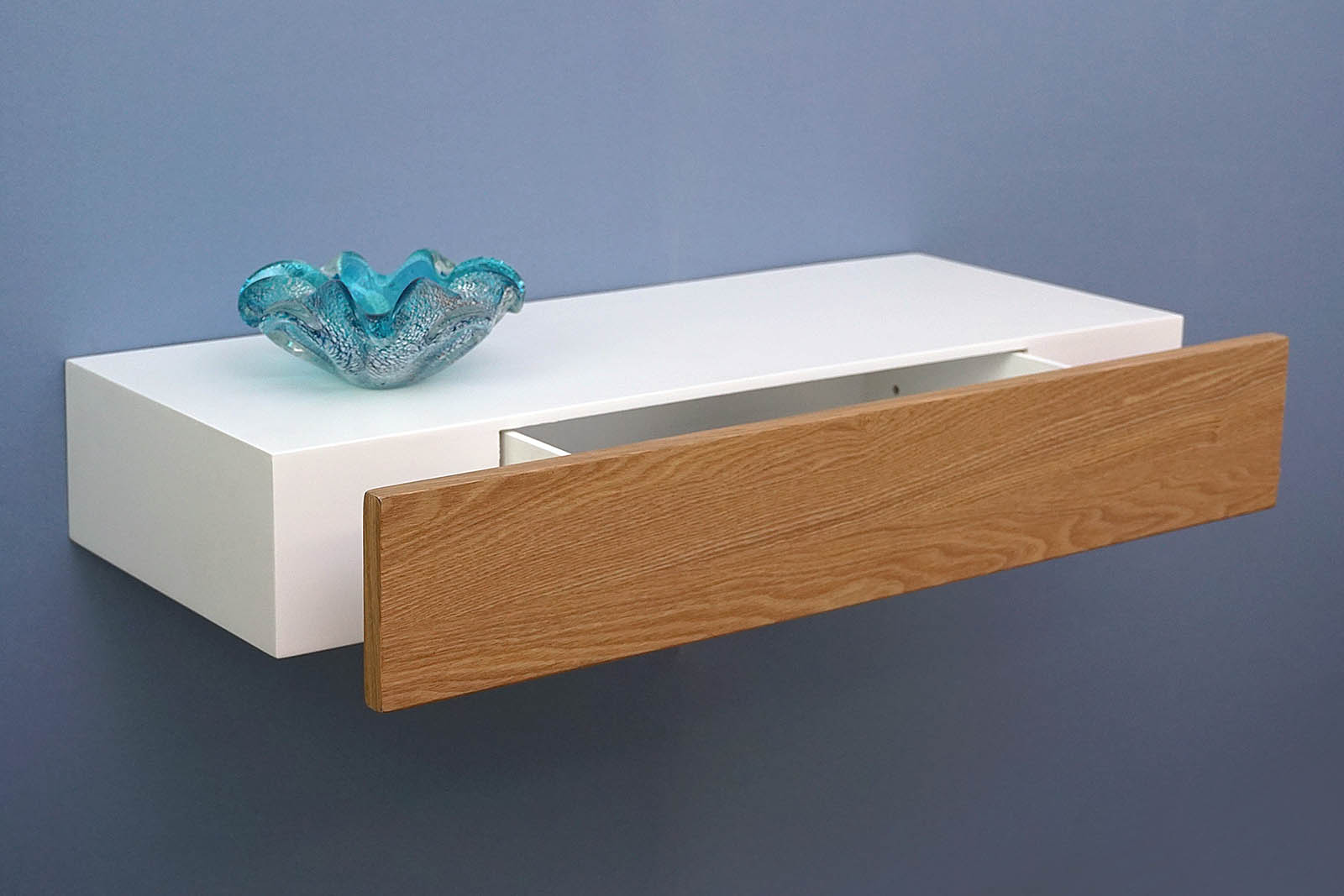 Floating Drawer floating shelf with ash drawer 600x250x100mm – the shelving shop