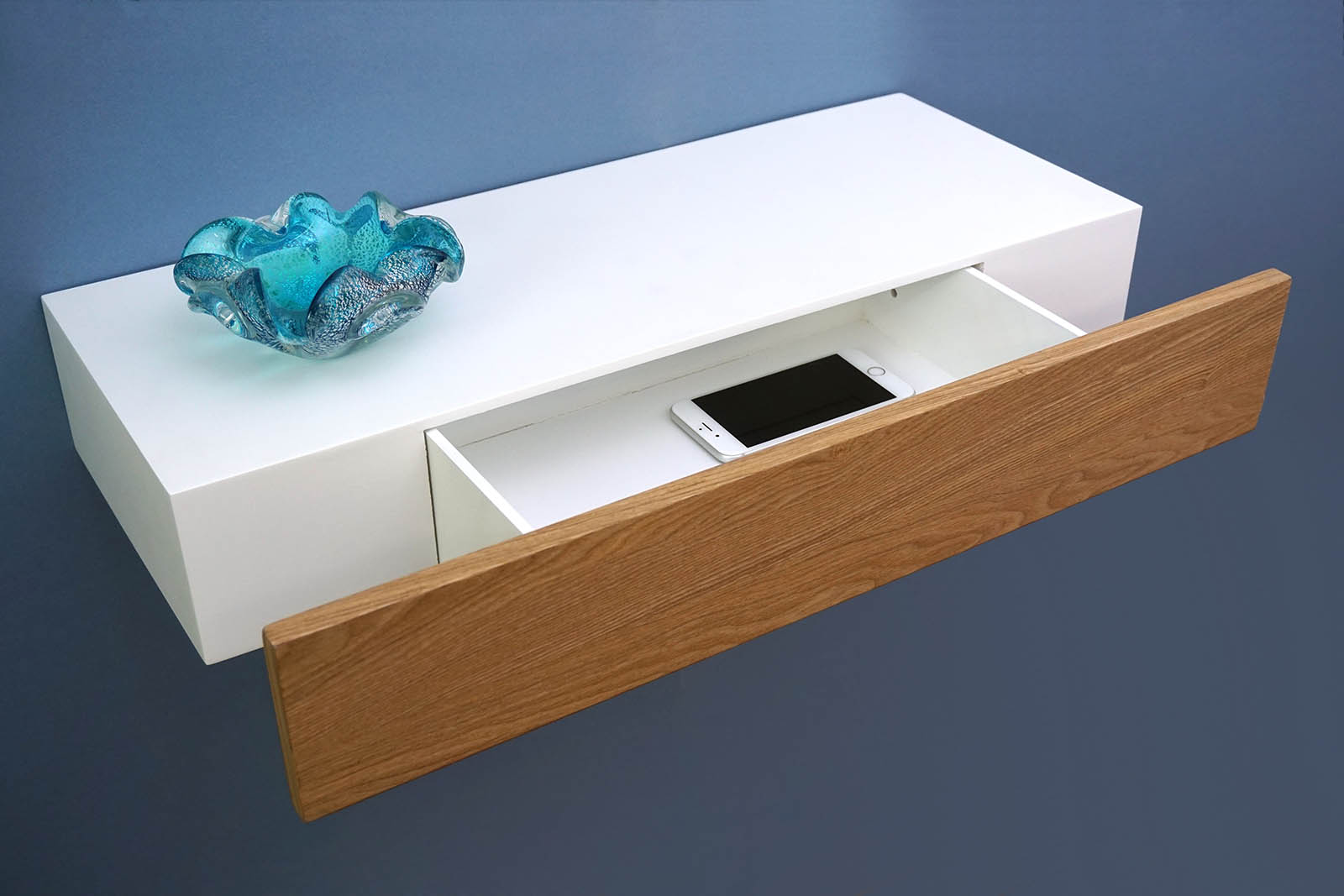 floating shelf with ash drawer xxmm – the shelving shop - dswhite ash open drawer dressed