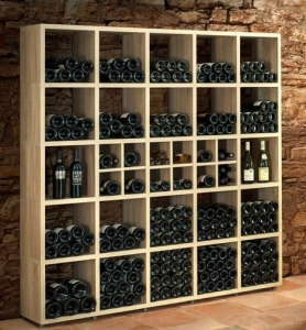 Boon Oak wine bottle storage large situ