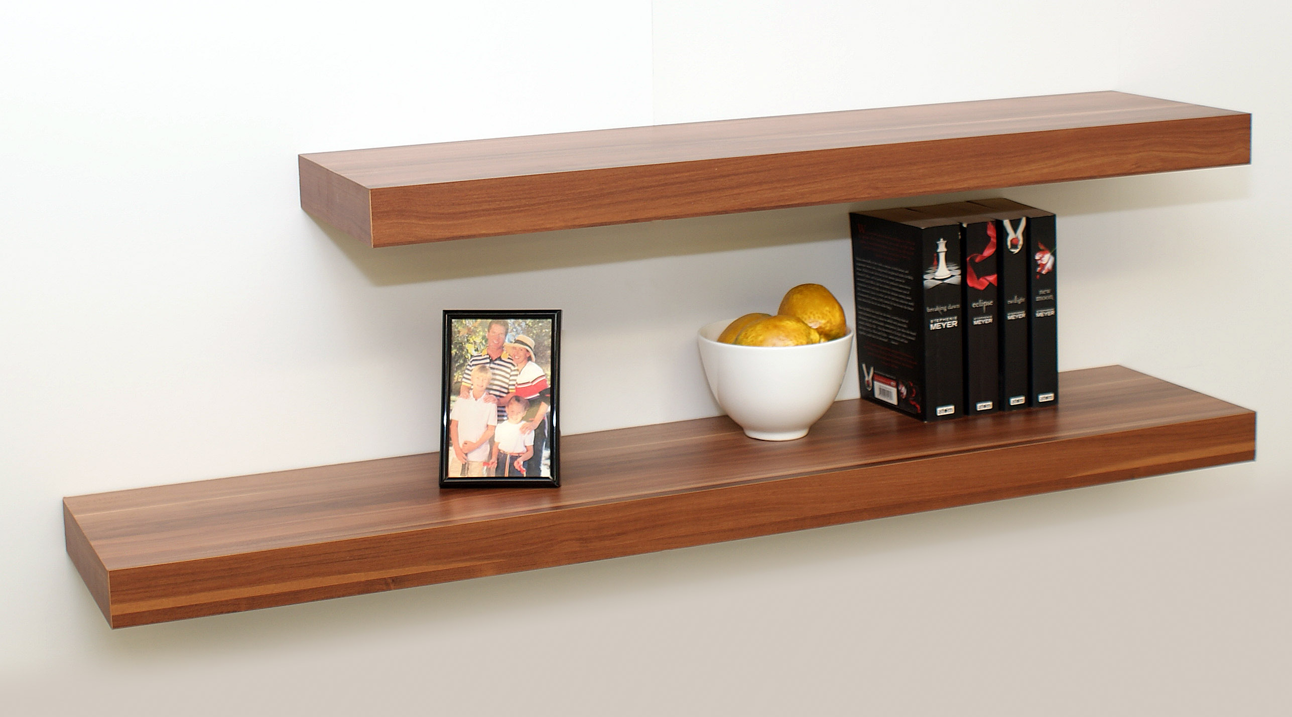 Floating Shelving floating shelf kit walnut 1150x250x50mm – the shelving shop
