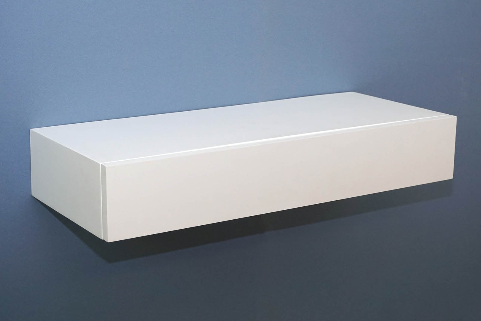 floating shelf with drawer xxmm – the shelving shop - ds white closed drawer empty