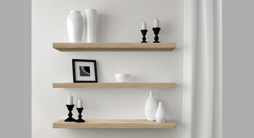 reputable site 38922 c2514 Floating Shelves Oak 900 triple deal !