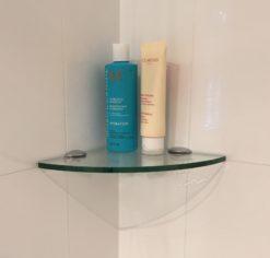 glass shower shelves the shelving shop rh shelvingshop com au glass shower shelf corner bathroom glass corner shelves shower