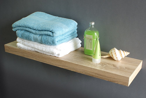 Floating Shelf Kit Oak 40x40x40mm The Shelving Shop Gorgeous Oak Veneer Floating Shelves