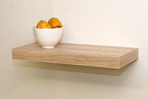 Admirable Floating Shelf Kit Oak 570X250X50Mm Download Free Architecture Designs Embacsunscenecom