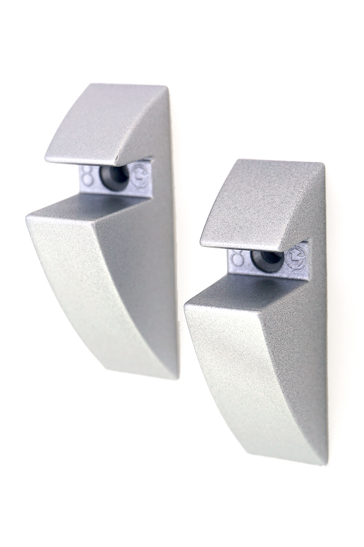 Glass Shelf Clips 8mm Pair Silver