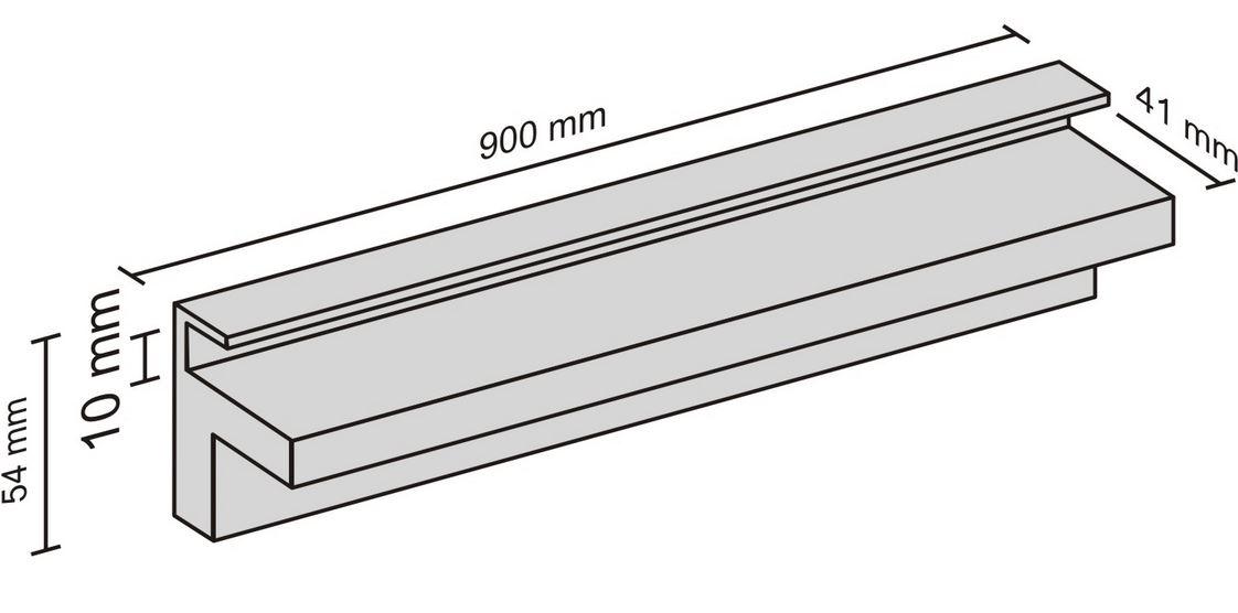 900mm x 10mm Glass Shelf Slot – The Shelving Shop