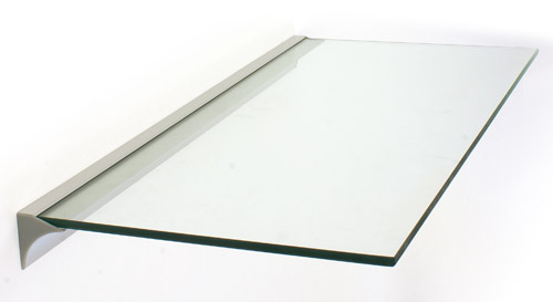 8mm Glass Shelf Slot Bracket 600mm Long The Shelving Shop