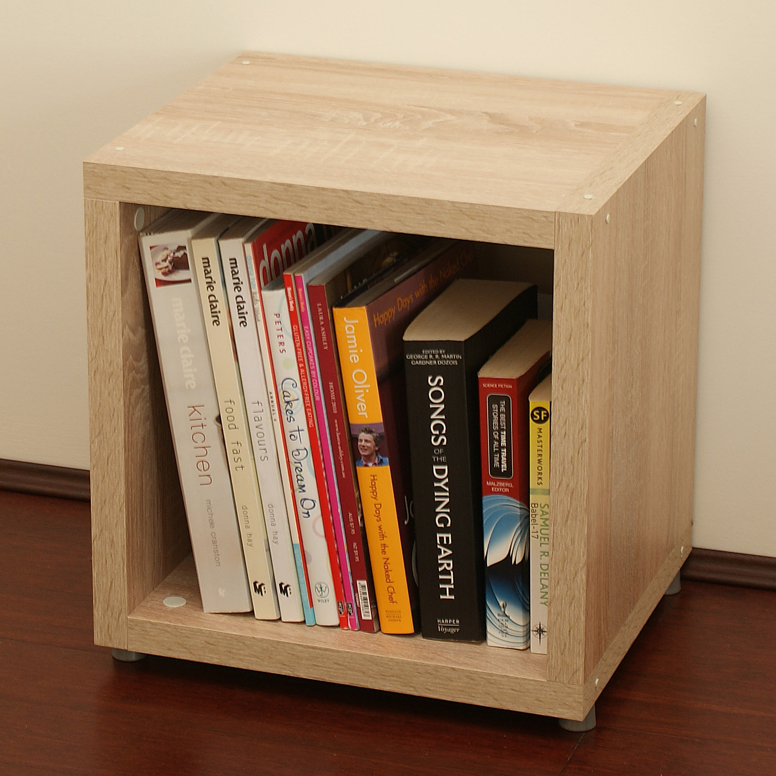 shelf shelves pin record cube stackable cubes oak and natural blox album vinyl storage