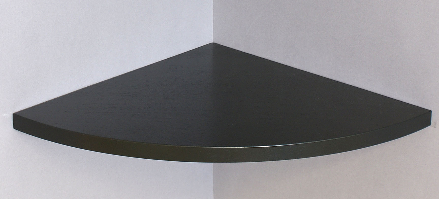 Corner Floating Shelf Black 400x400x22mm