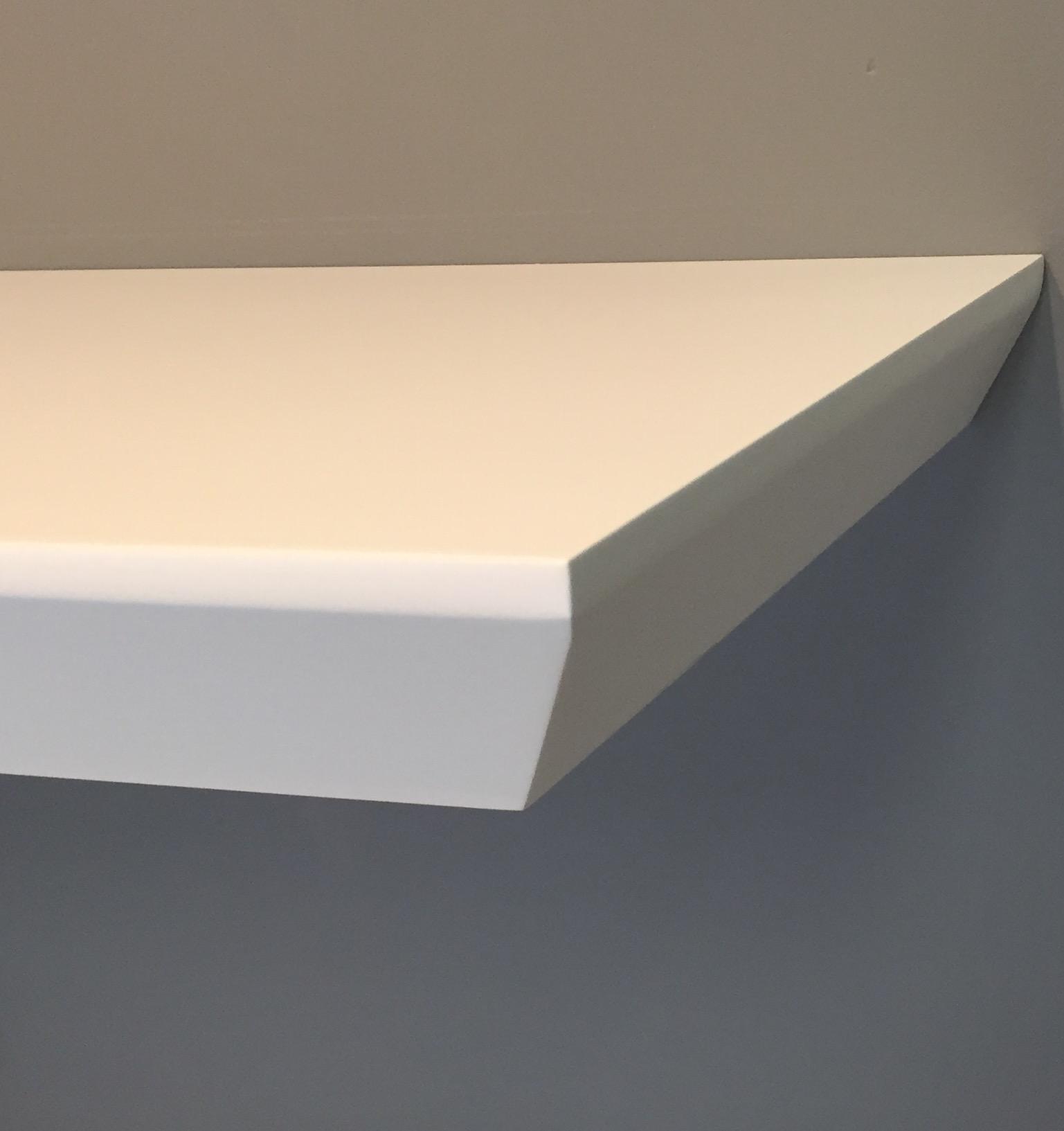 beveled edge floating shelf 1200x250x38mm the shelving shop rh shelvingshop com au Large Floating Shelves Large Floating Shelves