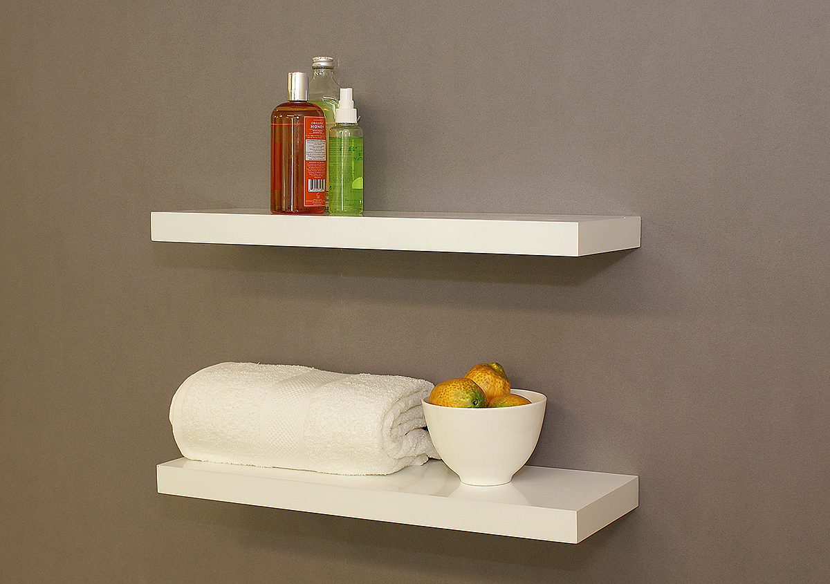 Surprising Gloss White Floating Shelves Double Deal 600X200X38Mm Interior Design Ideas Gentotryabchikinfo
