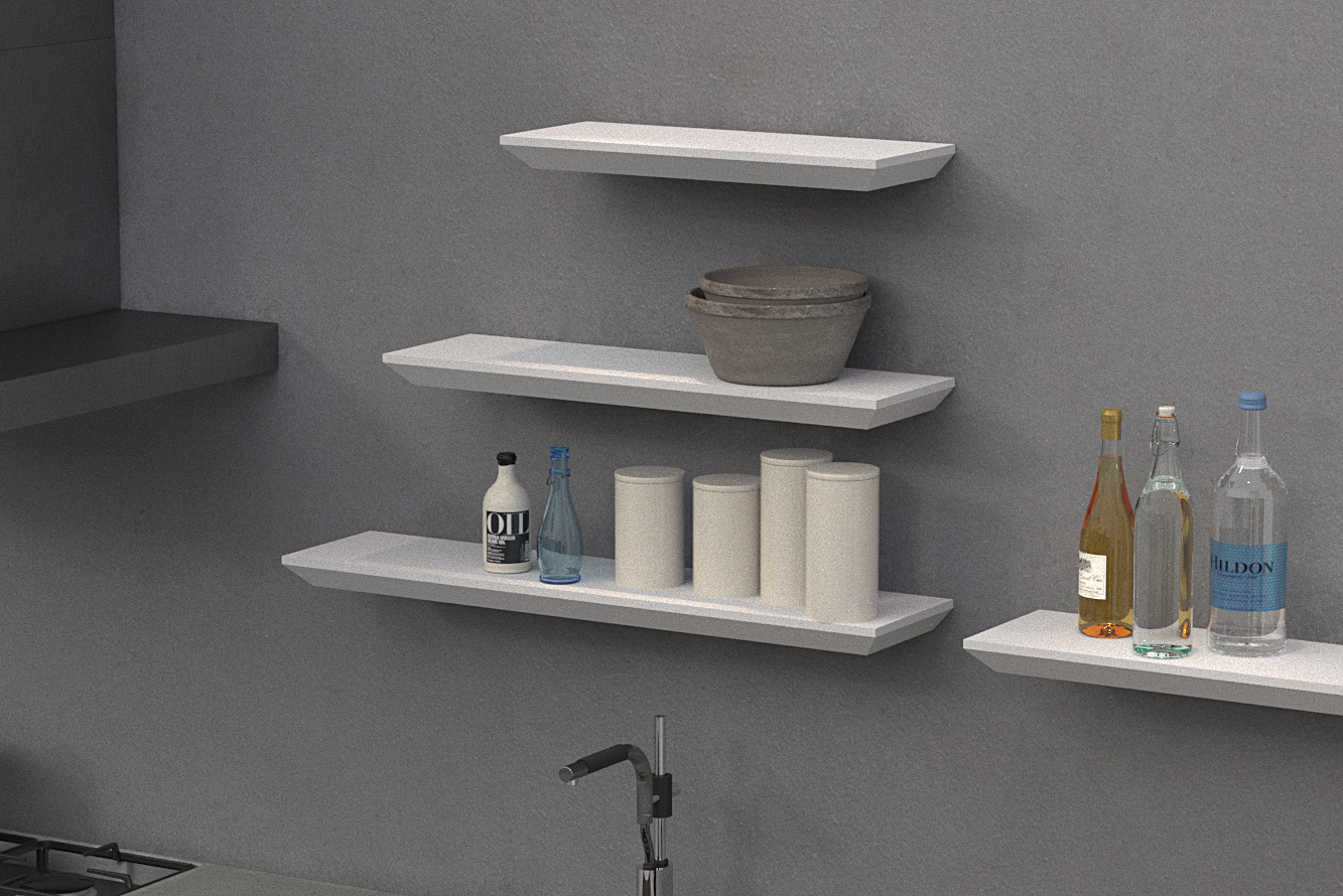 beveled edge floating shelf 1000x250x38mm