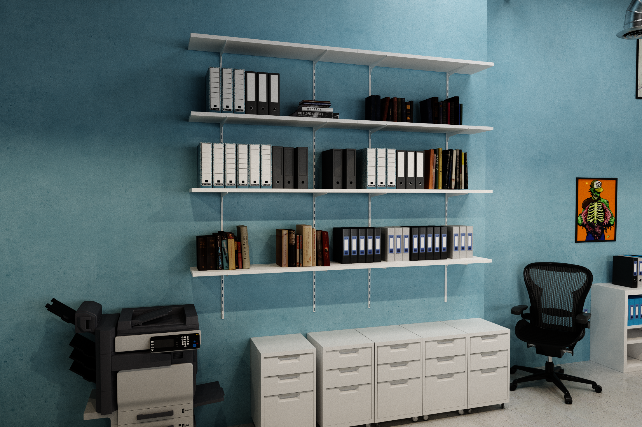 Single track adjustable shelf kit 1500x300mm – The Shelving Shop
