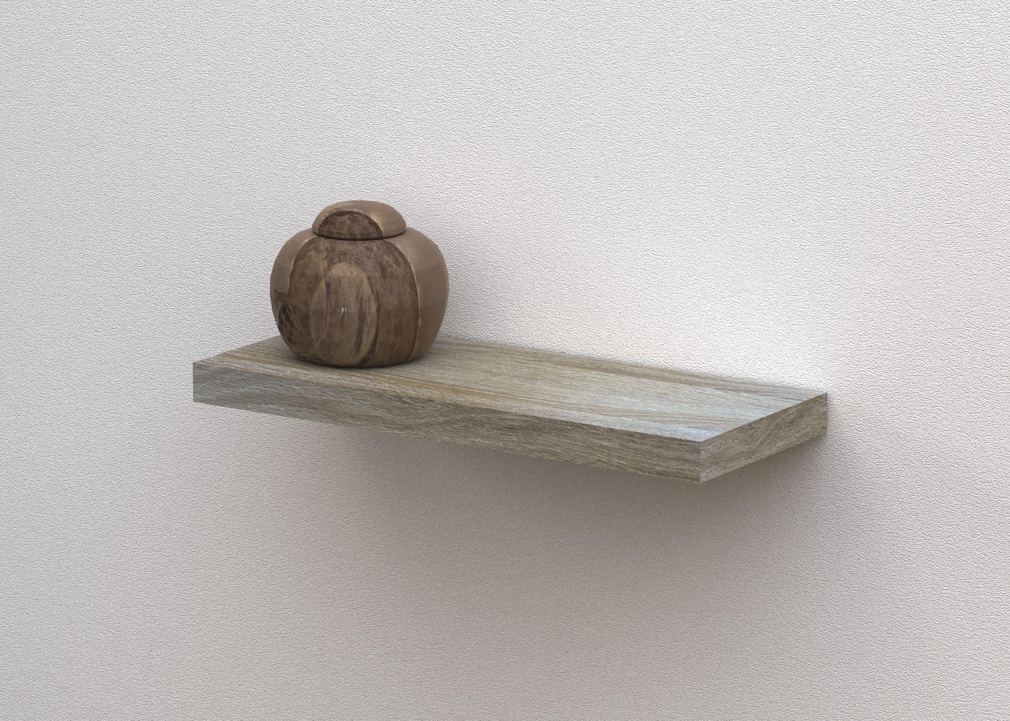 floating shelf 600x240x38mm white oak