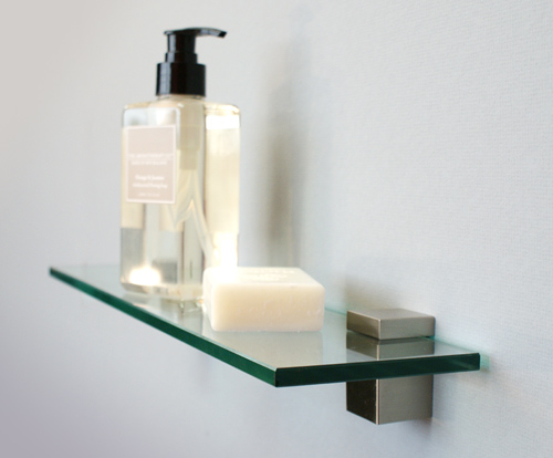 Bloc Glass Shelf Kit 300x100x8mm