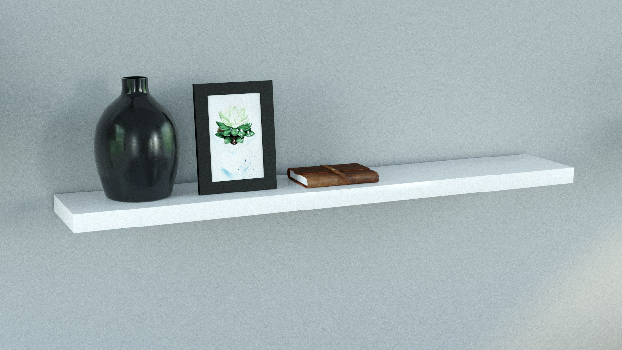 gloss white floating shelf 1200x200x38mm copy