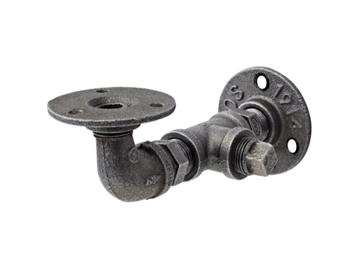Pipe brackets cast iron 170x95mm (pair of)