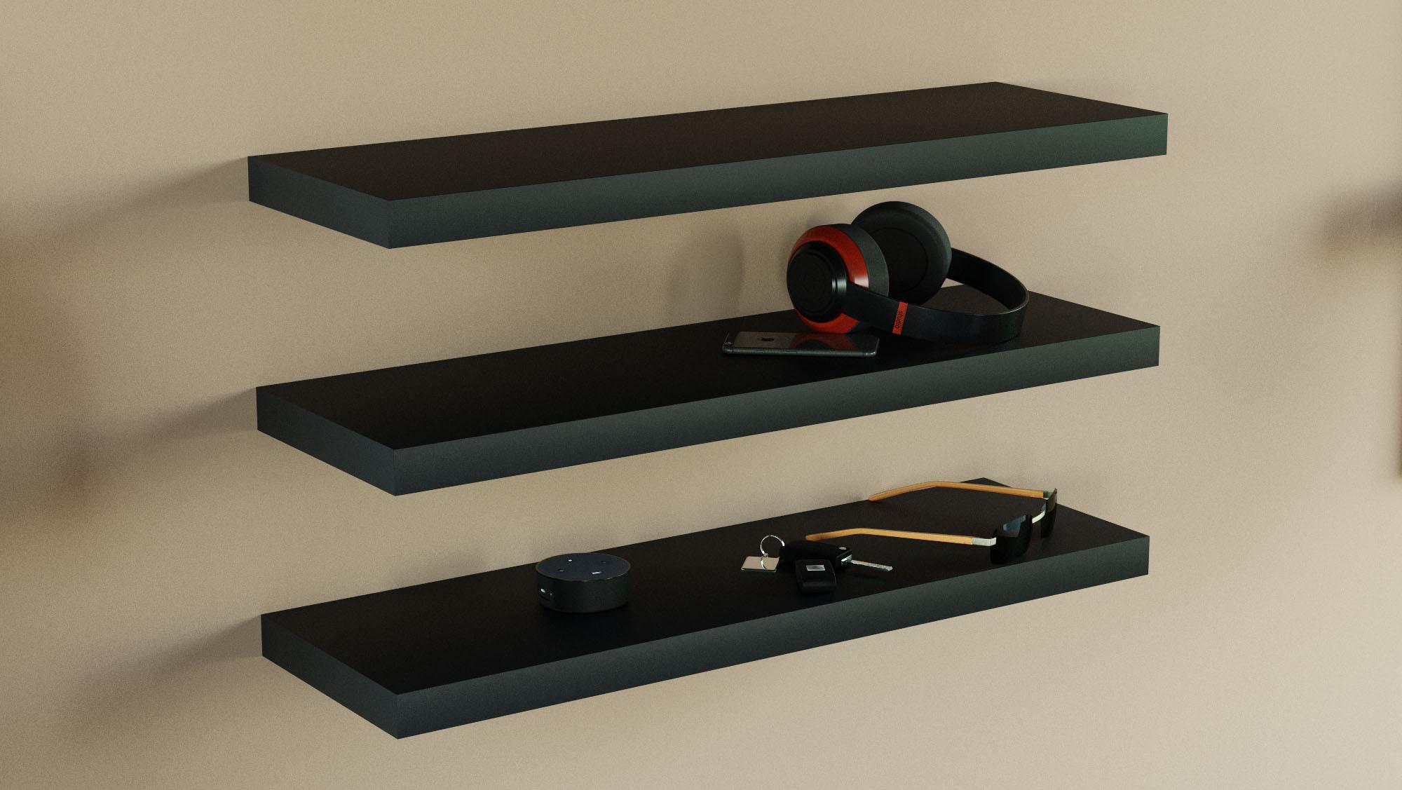 floating shelves 800x250x38mm triple deal